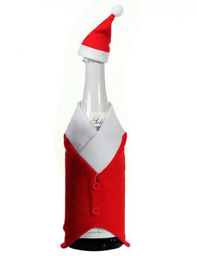 weihnachtsmann flaschenkost me weihnachts deko rot weiss 24cm g nstige faschings partydeko. Black Bedroom Furniture Sets. Home Design Ideas