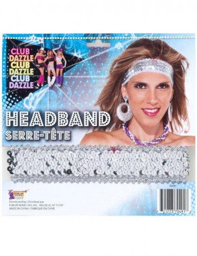 disco pailletten haarband silber g nstige faschings accessoires zubeh r bei karneval megastore. Black Bedroom Furniture Sets. Home Design Ideas