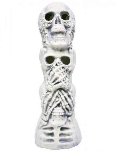 Totenschädel-Skulptur Halloween-Deko weiss 46x16x15cm