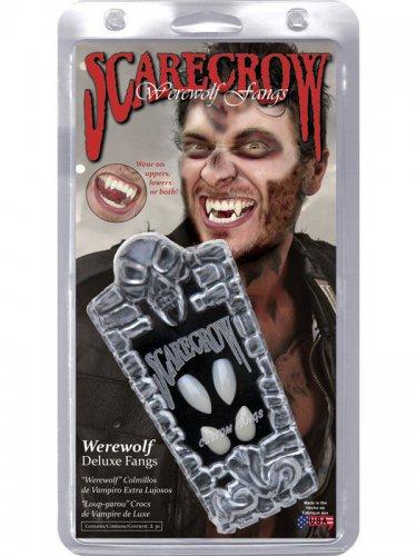 Scarecrow Halloween Werwolf Fangzähne Deluxe weiss