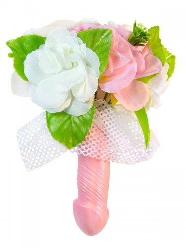 Penis Blumenstrauss Hochzeit Junggesellinnen-Abschied bunt