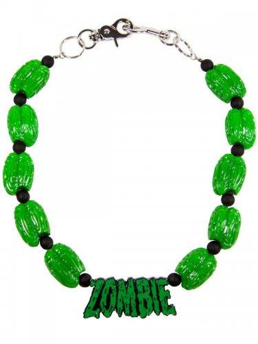 Kreepsville-Kette Zombie-Kette grün 48cm