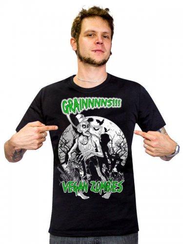 Veganer-Shirt Zombie-T-Shirt Grains schwarz-grün