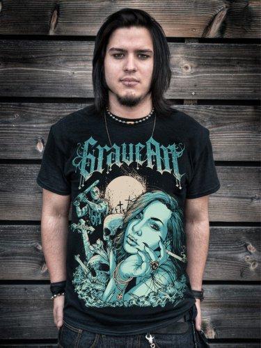 GraveArt-Shirt Beauty and Beast T-Shirt schwarz-blau