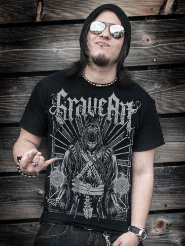 GraveArt-Shirt Motiv Scythe T-Shirt schwarz-grau