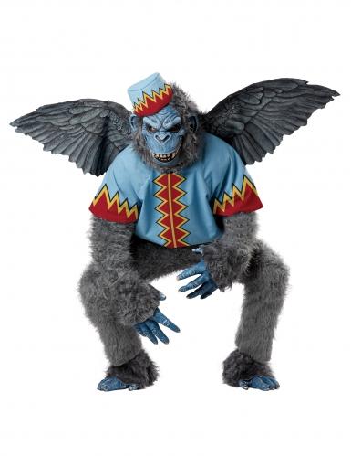 Fliegender Affe Märchen Halloween Herrenkostüm grau-blau-rot