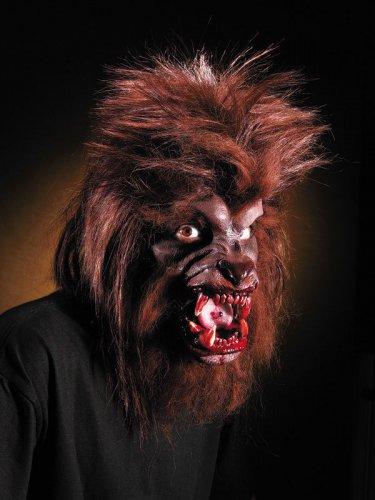 Latexapplikation Werwolf Halloween braun