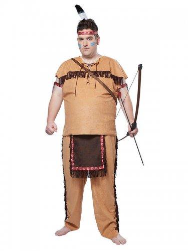 Indianer Krieger Wildwest Kostüm XL braun