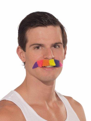 Schnauzbart CSD Party Schnauzer Bart regenbogenfarben