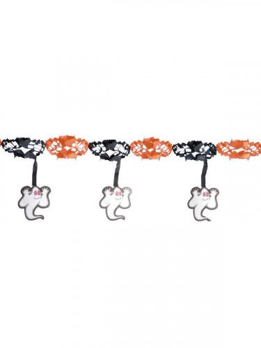 geister gespenster girlande halloween party deko orange. Black Bedroom Furniture Sets. Home Design Ideas