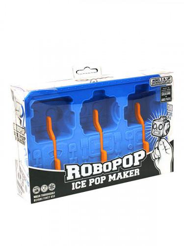 Eiswürfel-Form Roboter blau 19x12x3cm