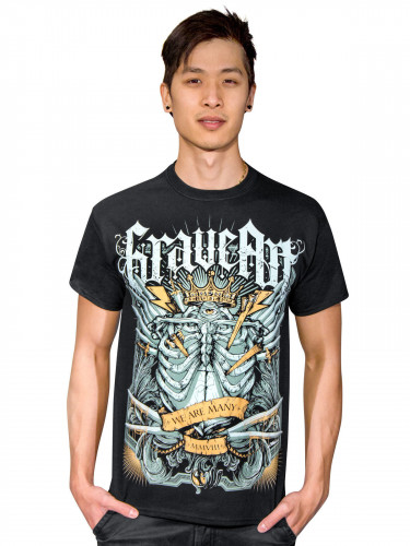 GraveArt We are many T-Shirt schwarz-bunt