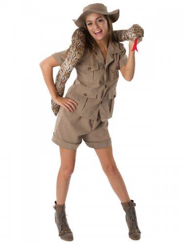 Safari Dschungel Damenkostüm Abenteurerin khaki