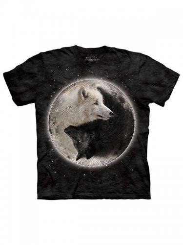 The Mountain Yin Yang Wolves T-Shirt schwarz-weiss