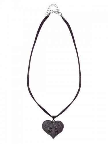 Krüger Halskette Herz schwarz