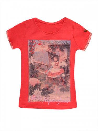 Trachten Kinder T-Shirt Miss Alpenglück rot