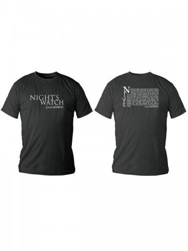 Game of Thrones-Lizenzshirt Nights Watch T-Shirt schwarz-weiss