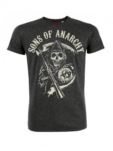 Sons of Anarchy™-Lizenz-T-Shirt grau-weiss
