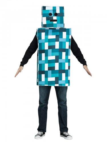 Retro Roboter Kostüm blau-weiss