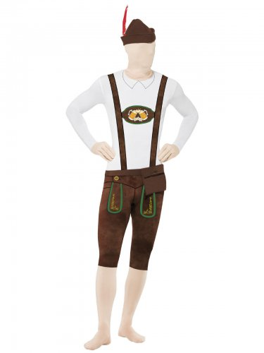 Bayer Lederhosen Second Skin Suit braun-weiss
