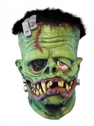 Johnny Ace Studios Frankenfink Monster Latex-Maske Lizenzartikel grün