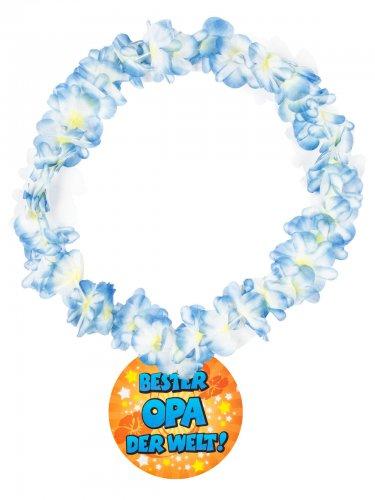 Hawaii-Kette Geschenk Bester Opa der Welt bunt 14cm