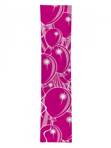 Geburtstags-Banner Luftballons Party-Deko pink 300x60cm