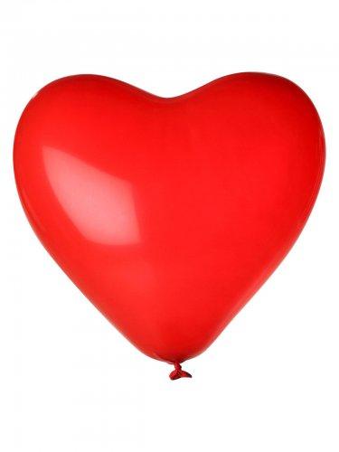 Herz Luftballon-Set 24 Stück Ballons Party-Deko rot 33cm