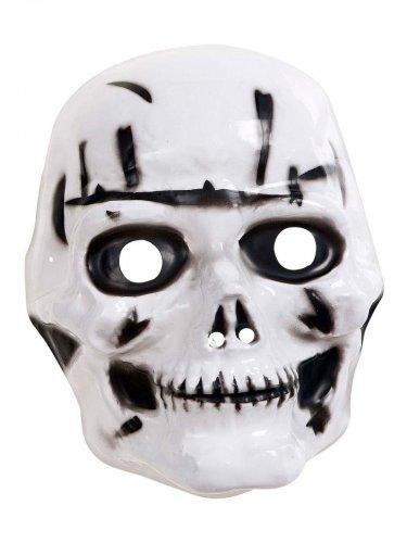 Skelett-Maske Halloween-Maske für Kinder weiss-schwarz , günstige ...