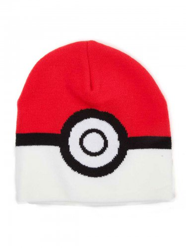 Pokémon Beanie Poké-Ball Lizenzware schwarz-rot-weiss