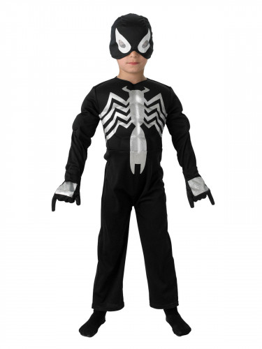 Marvel Black Spiderman Deluxe Kinderkostüm Lizenzware schwarz-weiss