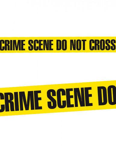 absperrband crime scene do not cross halloween deko schwarz gelb 20m x 7 5cm g nstige. Black Bedroom Furniture Sets. Home Design Ideas