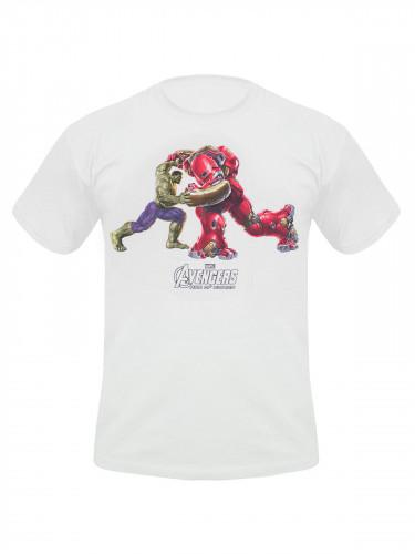 Avengers Age of Ultron T-Shirt Hulk und Hulkbuster weiss-bunt