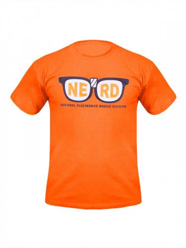 Pixels T-Shirt Lizenzware orange-weiss