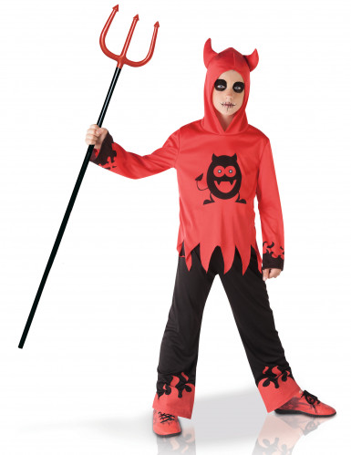 Lustiges Teufel-Kinderkostüm rot-schwarz