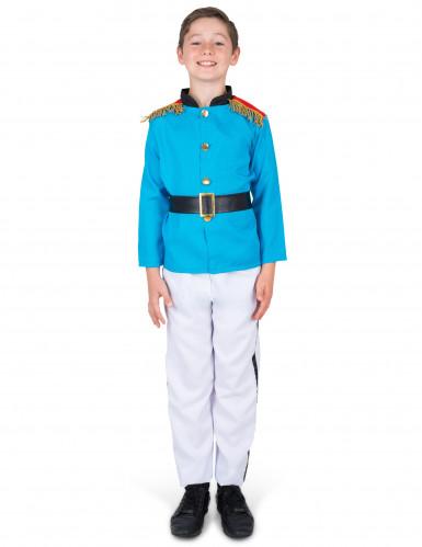 Prinzen-Kinderkostüm Historisches Kostüm blau-weiss