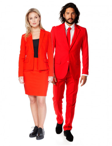 Opposuits™ Einfarbige Paaranzüge lang rot