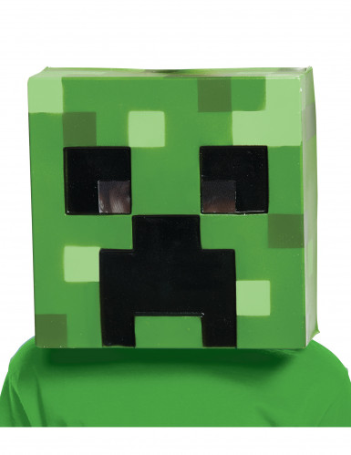 Minecraft™-Lizenzmaske Creeper Videospielmaske grün-schwarz