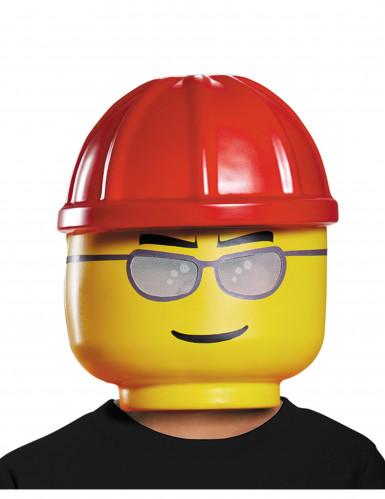 LEGO™ Bauarbeiter Kindermaske Lizenzware gelb-rot