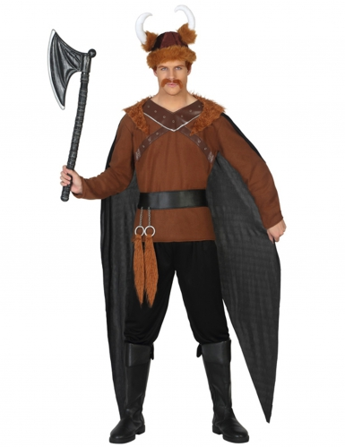 Wikinger-Kostüm Herren schwarz