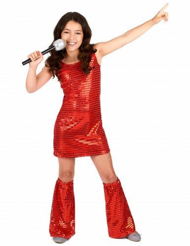 Disco-Kinderkostüm Paillettenkleid rot , günstige Faschings Kostüme ...
