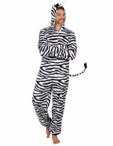 Zebra-Herrenkostüm Karneval-Tierkostüm weiss-schwarz