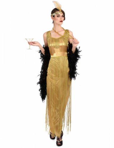 Charleston-Kleid 20er-Kostüm gold