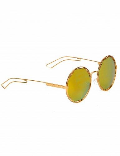 80er Jahre Retro-Brille mit runden Gläsern Kostüm-Accessoire silber