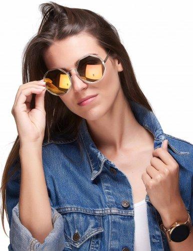 80er jahre retro brille mit runden gl sern kost m accessoire silber g nstige faschings. Black Bedroom Furniture Sets. Home Design Ideas