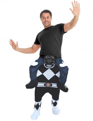 Morphsuits™ Power Rangers™ Huckepack-Kostüm Lizenzware schwarz-weiss-blau