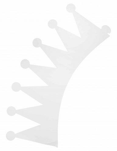 Papierkronen für Kinder Party-Zubehör 6 Stück weiss