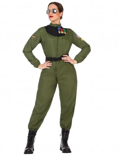 Militär-Damenkostüm Pilotin khaki