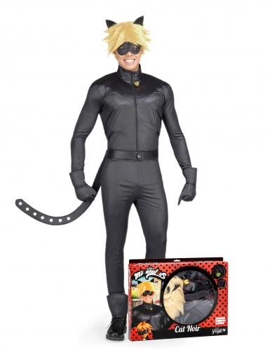Cat Noir™-Kostüm Miraculous™-Lizenzkostüm schwarz
