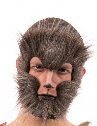 werwolf maske f r erwachsene braun g nstige faschings masken bei karneval megastore. Black Bedroom Furniture Sets. Home Design Ideas